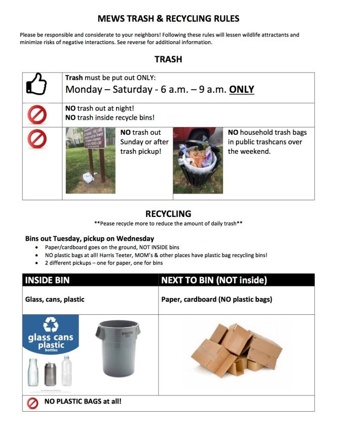Mews Trash Rules
